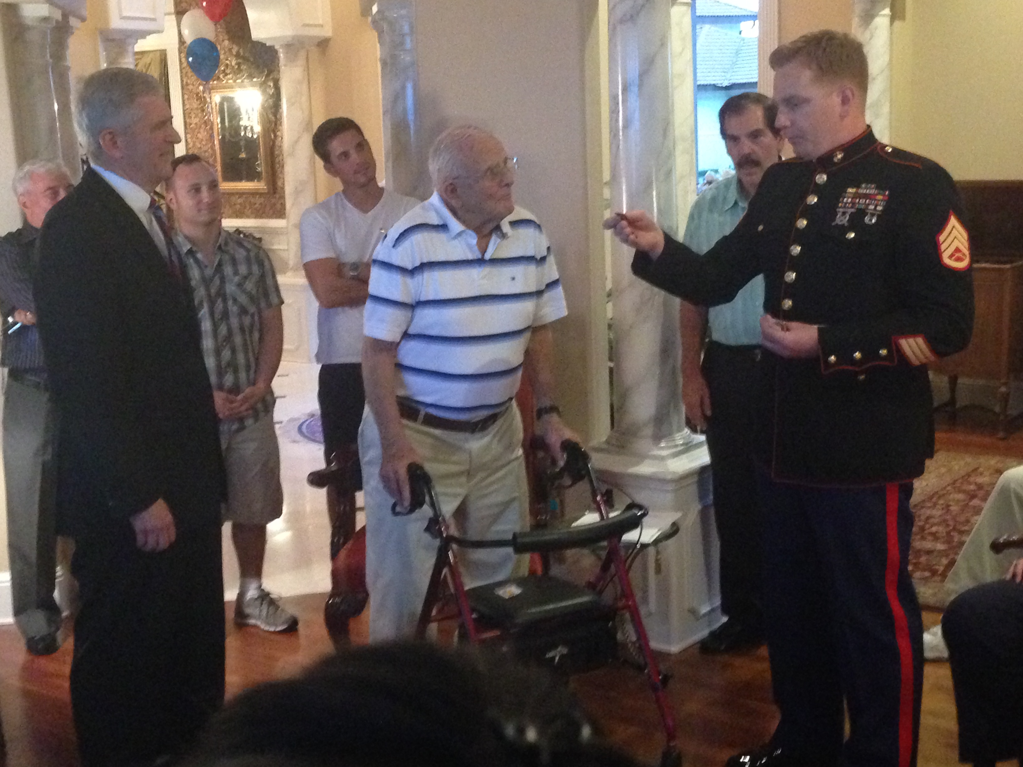 Marine Presentation to Vinnie Unger